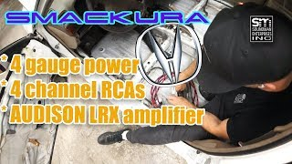 Running amp wires in the Acura! - ACURA #3