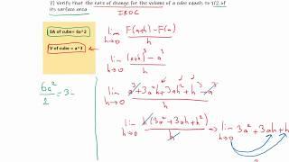 MCV4U/Grade 12 Calculus and Vectors - 1.3 Rate of Change (PART 2)