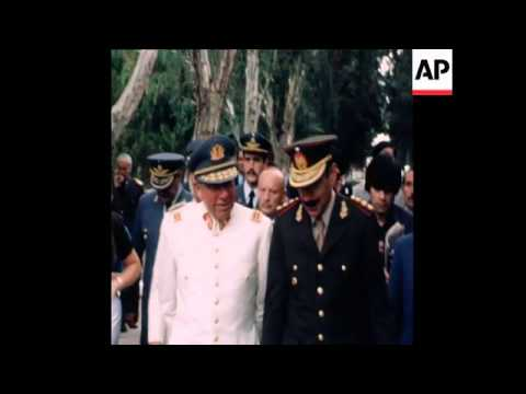 SYND 22 1 78 PRESIDENT PINOCHET OF CHILE MEETS PRESIDENT VIDELA TO DISCUSS TERRITORY CLAIMS