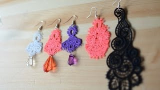 DIY How to make simple but beautiful Lace Earrings