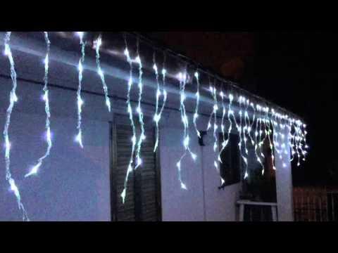 Tenda led natalizia effetto pioggia youtube