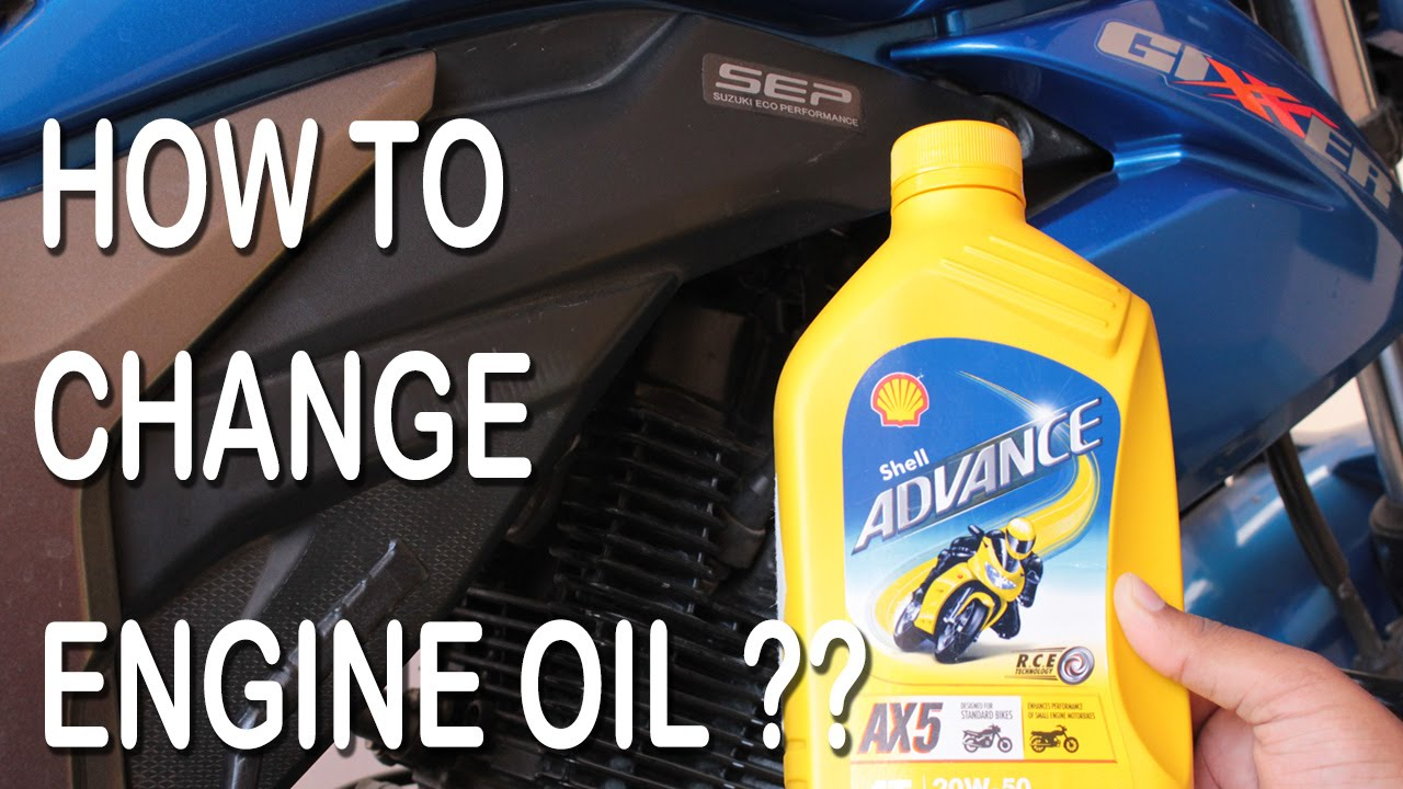 How To Change Suzuki Gixxer 155 Engine Oil D I Y Youtube