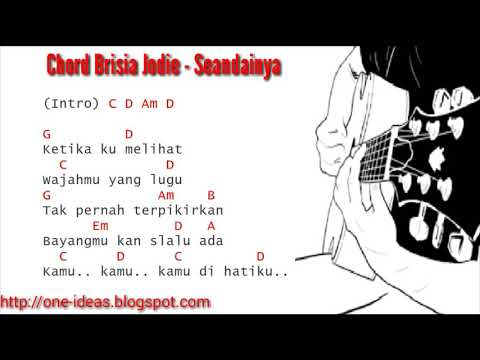 kunci Gitar / Chord BRISIA JODIE- SEANDAINYA dan Lirik Lagu