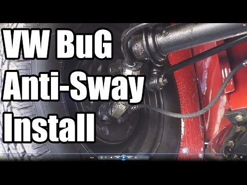 Classic VW BuGs How to Install Beetle Front End Anti Sway Bar Kit