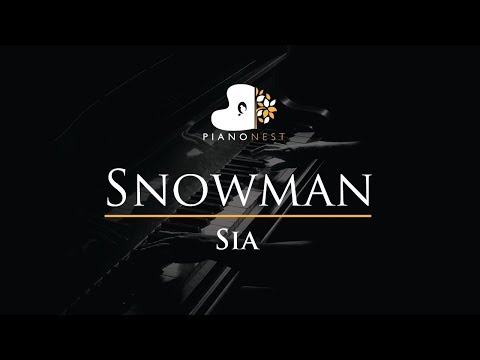 Sia - Snowman - Piano Karaoke / Sing Along / Cover with Lyrics