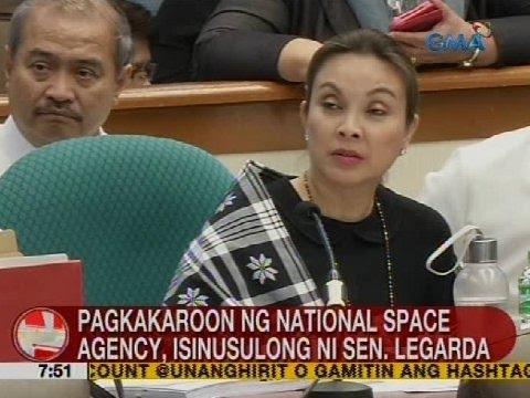 Pagkakaroon ng national space agency, isinusulong ni Sen. Legarda