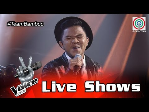 The Voice Teens Philippines Live Show: Emarjhun de Guzman - It's A Man's World