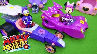 Minnie Mouse and Daisy Duck Transforming Pullback Racer Cars Mickey and the Roadster Racers Toys
