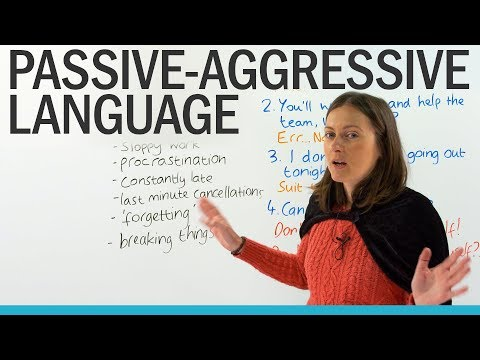 Passive-Aggressive Language