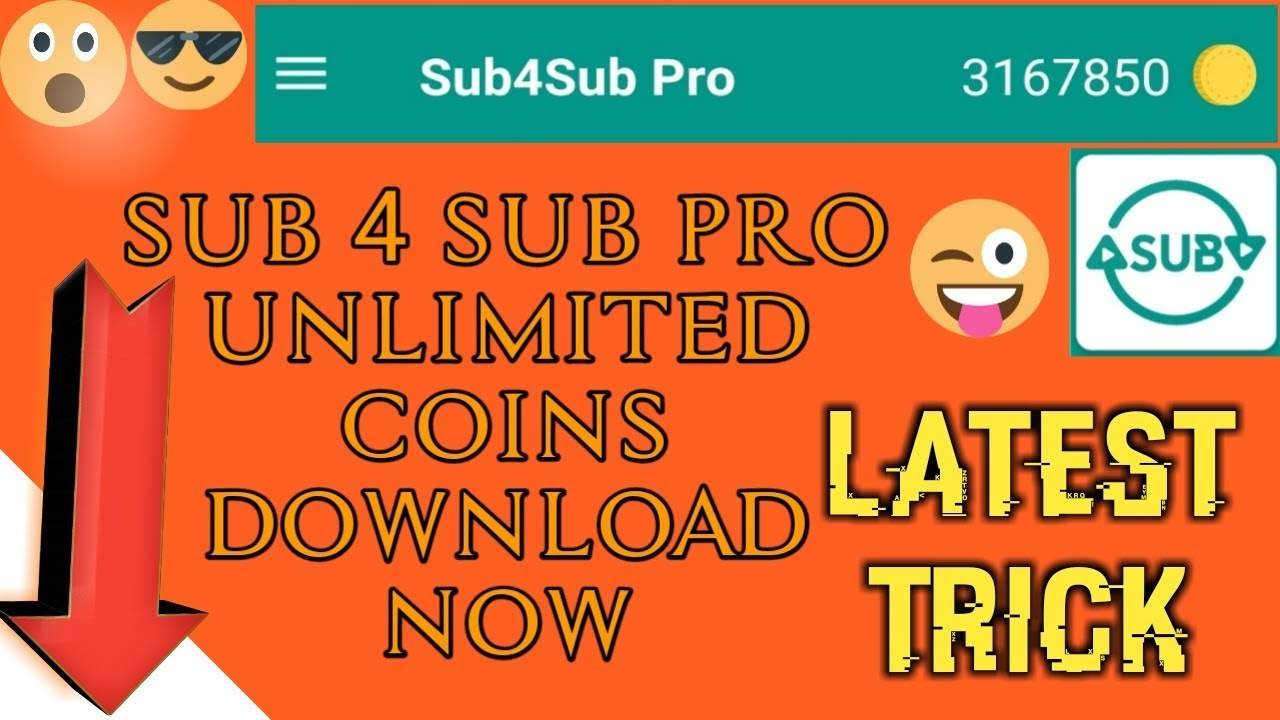 Sub4sub pro unlimited coins || sub 4 sub pro unlimited coins download apk  now