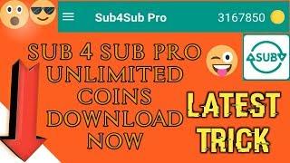 Download lagu Sub4sub pro unlimited coins    sub 4 sub pro unlimited coins download apk now