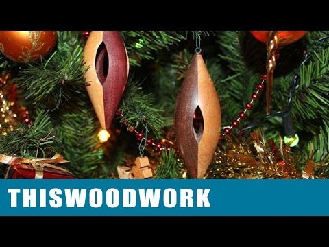 Inside Out Woodturning Christmas Tree Ornament Youtube