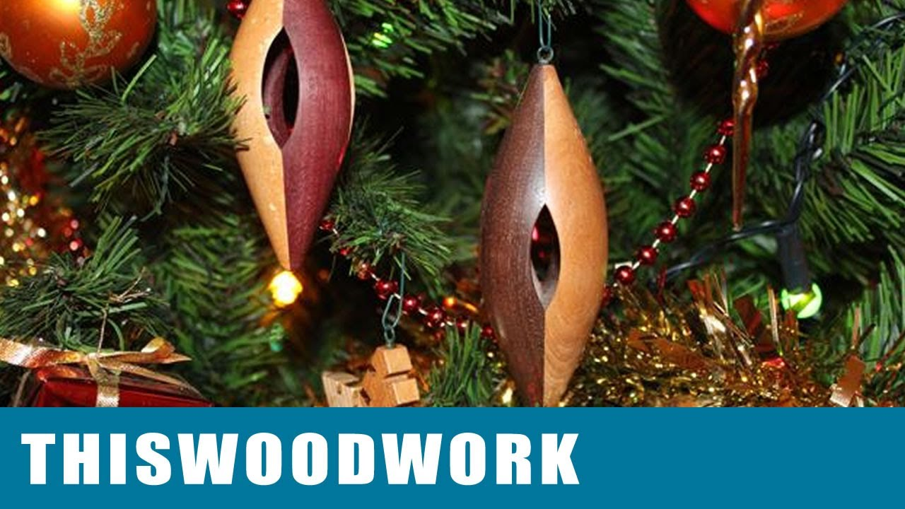 Wood Lathe Turned Christmas Ornaments