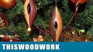 Inside Out Woodturning Christmas Tree Ornament