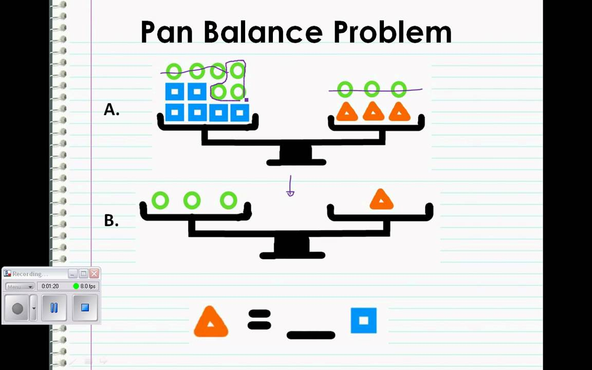 Pan Balance Problem - YouTube