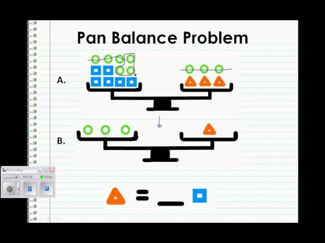 Pan-Balance Problems 6.9 | HR 6th Grade Mathematics