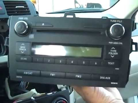 2009 toyota yaris radio wiring diagram venn exercises with answers corolla stereo removal and repair 2009-2012 - youtube