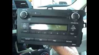 Toyota Corolla Stereo Removal and Repair 2009-2012