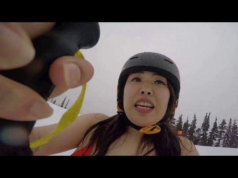 大納言光子 氷河を水着でスキー滑走 i n ウィスラー ②