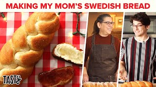 My Mom Teaches Me How To Make Swedish Bread