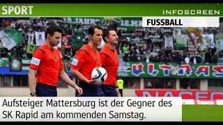 Spielankündigung: SK Rapid vs SV Mattersburg