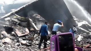 Pesawat Hercules TNI Jatuh di Medan