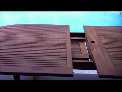 Bon Oceanic Teak Furniture Table Extension Leaf Demonstration