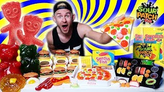 THE EVERYTHING GUMMY FOOD CHALLENGE! (10,000+ CALORIES)