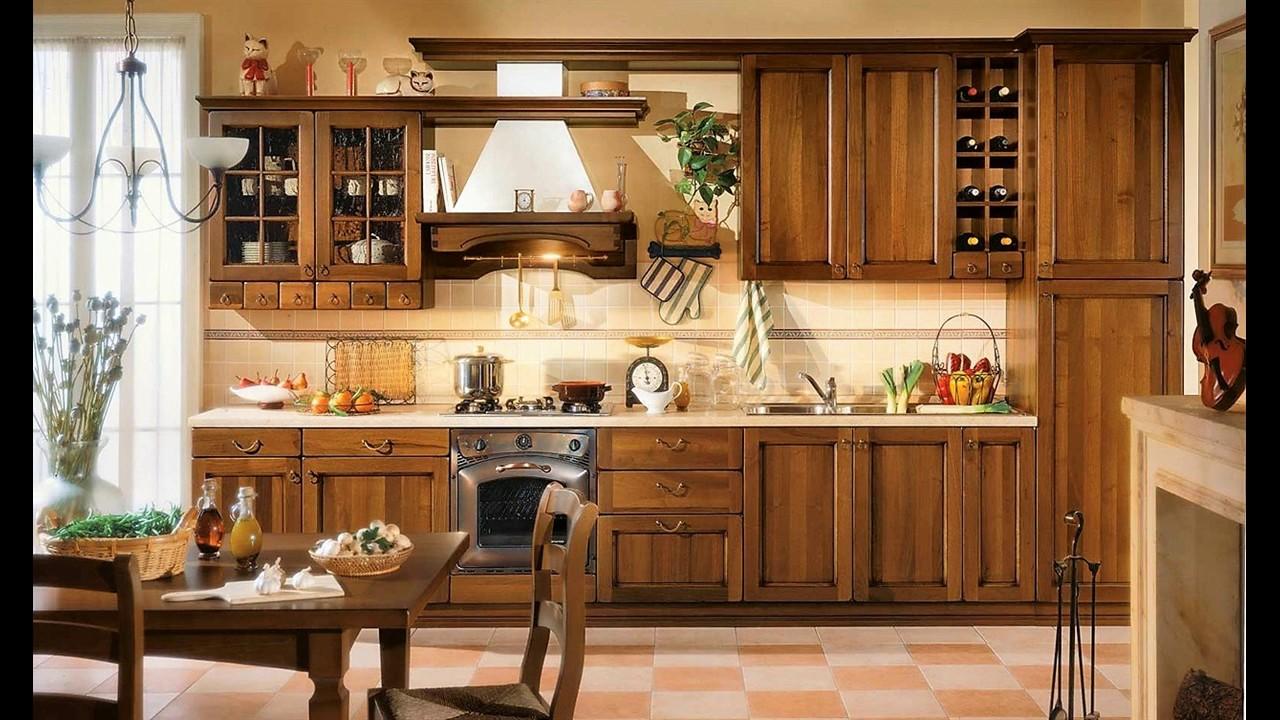 Le nostre cucine in legno sia moderne che classiche youtube - Cucine in legno classiche ...