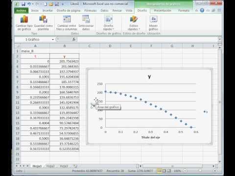 Gráfica posición vs tiempo Excel_2.avi - YouTube