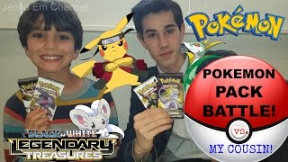 Pokemon Legendary Treasures Pack Battle: VS. My Cousin! Jenna Em Channel