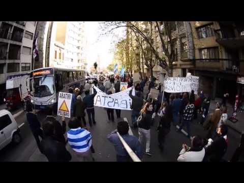 Marcha por la tierra en Uruguay
