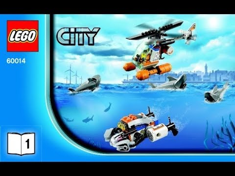 Lego City Coast Guard Patrol 60014 Instructions Book Diy 1 Youtube