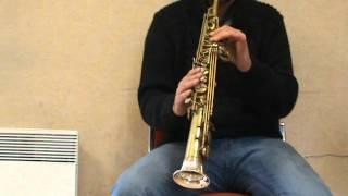 Saxophone Borgani soprano JUBILEE