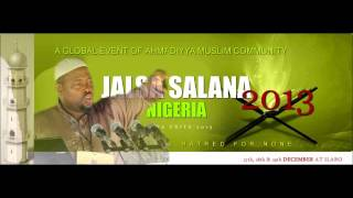 Ahmadiyya Muslim Jama'at Nigeria: Pathway to Peace - Lecture by Dr Saheed Olurotimi Timehin