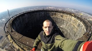 Abandoned Smoke Stack (150 meters POV full climbing experience)