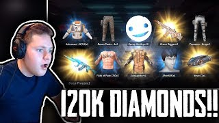 Spending $2,000 worth of Diamonds!!! (120k) | Part 1 | Rules Of Survival