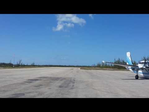 Britten Norman Islander short field landing in Chub Cay, Bahamas