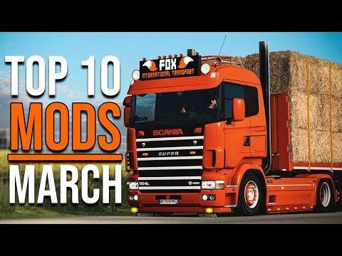 TOP 10 ETS2 MODS - MARCH 2020 | Euro Truck Simulator 2 Mods
