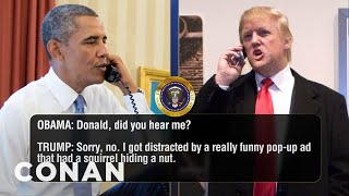 Trump And Obama's Final Call Of 2016  - CONAN on TBS