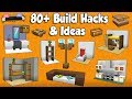 80+ MINECRAFT BUILD HACKS AND IDEAS