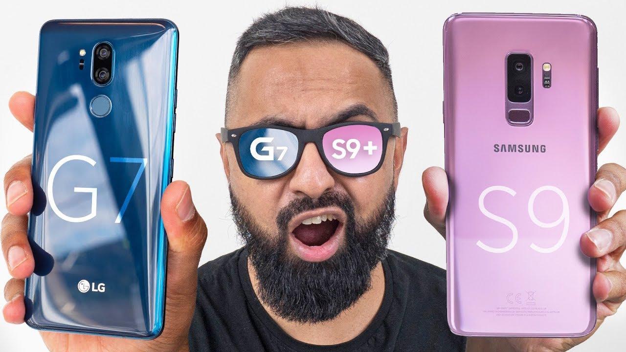 LG G7 ThinQ vs Samsung Galaxy S9 Plus - YouTube