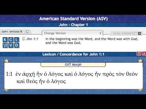 John 1 English Greek Translation