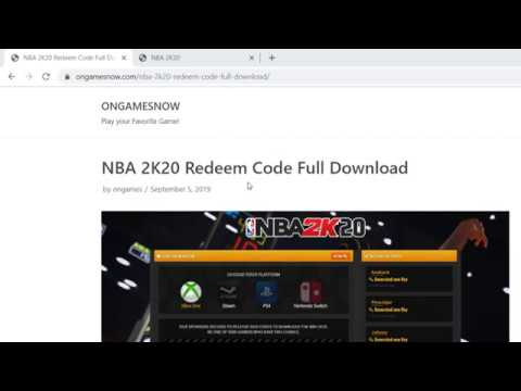 NBA 2K20 Redeem Code Download [ Xbox ONE,PS4,PC,Switch ]