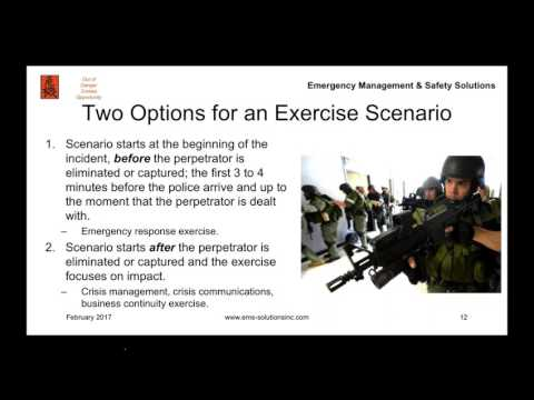 Designing an Active Shooter Training Exercise