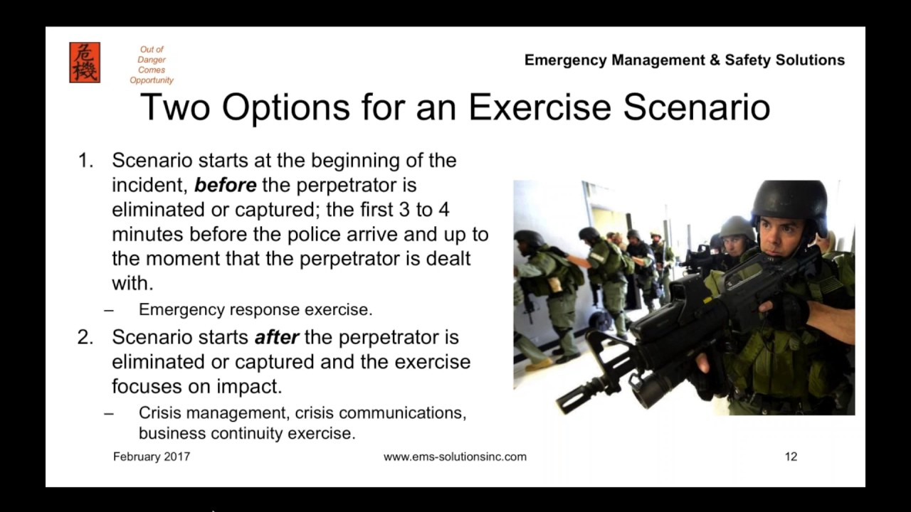 Designing an Active Shooter Training Exercise - YouTube