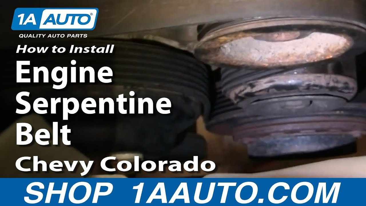 how to install replace engine serpentine belt chevy colorado 04 12 rh youtube com 2006 Chevy Colorado Wiring- Diagram 2004 GMC Envoy Engine Diagram