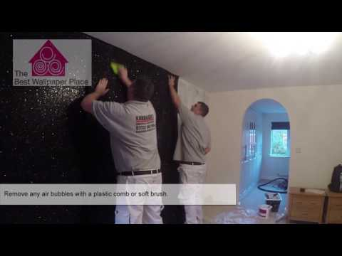 How to hang glitter fabric wallpaper | The Best Wallpaper Place