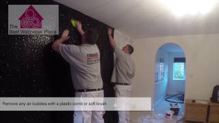How to hang glitter fabric wallpaper   The Best Wallpaper Place