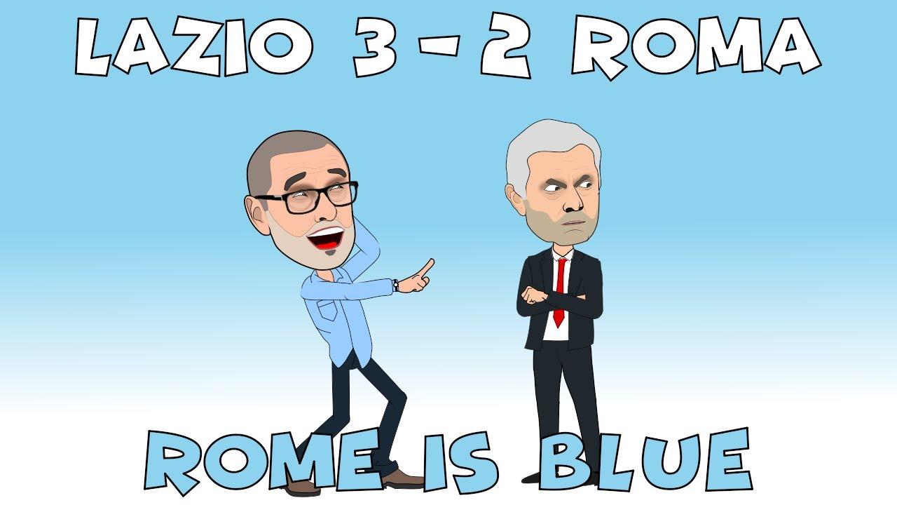 Download Lazio Defeats Roma🤪🤣😁 Sarri Victorious Over Mourinho💪 Rome Is Blue😁⚽💪